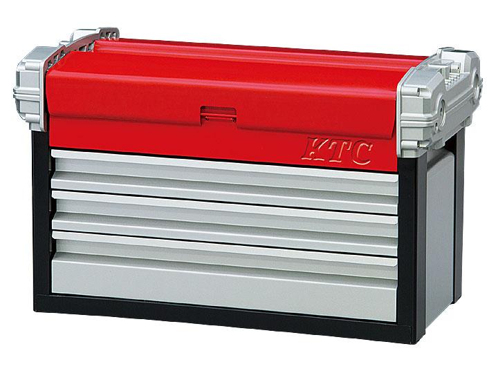 ☆KTC/京都機械工具 EKR-113 チェスト (3段3引出) シルバーxレッドxブラック 工具箱