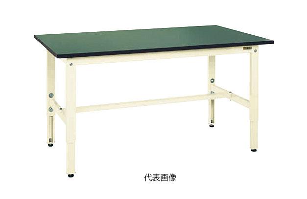 【代引き不可】☆サカエ TKK6-096FEI 軽量高さ調整作業台TKK6タイプ(RoHS10指令対応) サカエリューム天板 W900×D600×H600~800mm グリーン (038431)