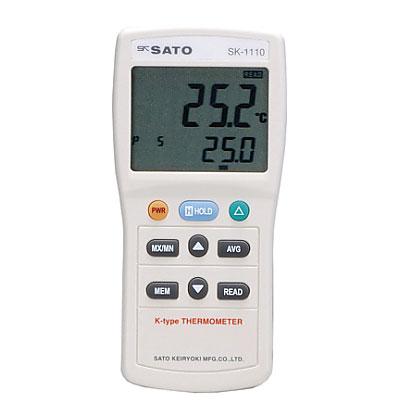 ☆佐藤計量器/SATO SK-1110 デジタル温度計  (指示計のみ) (8014-03)