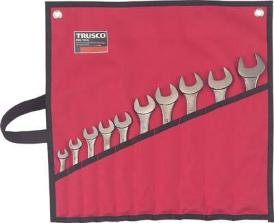 ☆TRUSCO/トラスコ中山 TTCS-10S ミラータイプコンビネーションスパナセット 10丁組   コード(3014118)