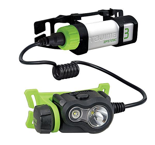 【NEW】☆TAJIMA/タジマ LE-U301-SP ペタLEDヘッドライトU301セット 専用充電池セット (LE-ZP3729C) スポット2灯式