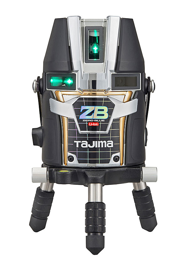 ☆TAJIMA/タジマ ZEROBL-KJY ゼロブルーリチウム-KJY (ZERO BLUEリチウム‐KJY) ブルーグリーンレーザー墨出し器 本体のみ ジンバル式レーザー リチウムイオン充電池7424仕様 矩十字 横