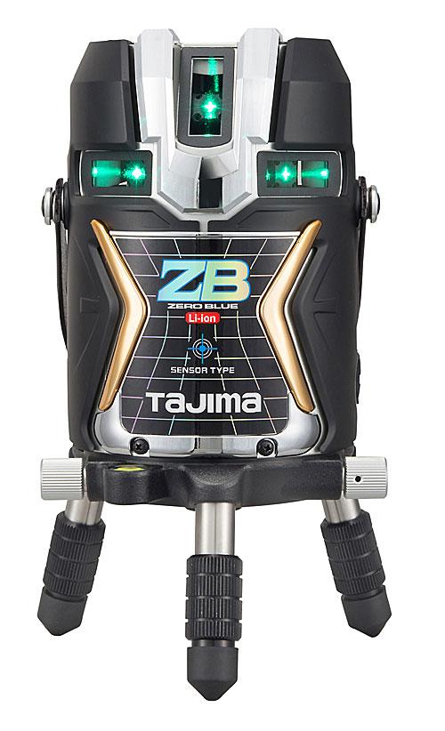 【NEW】☆TAJIMA/タジマ ZEROBLS-KJC ゼロブルーセンサーリチウム-KJC (ZERO BLUEセンサーリチウム‐KJC) ブルーグリーンレーザー墨出し器 本体のみ センサー式レーザー リチウムイオン充電池7424仕様 矩十字 横全周
