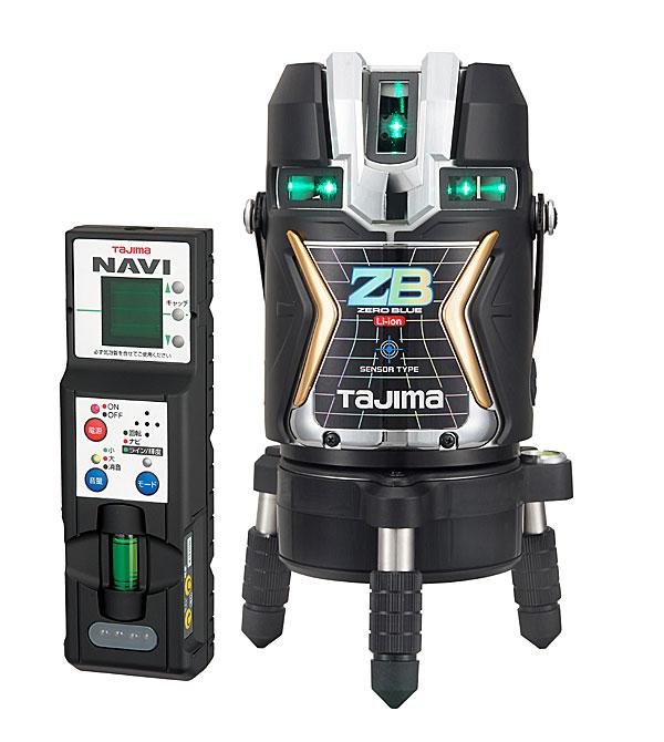【6月上旬出荷】【NEW】☆TAJIMA/タジマ ZEROBLSN-KJC ナビゼロブルーセンサーリチウム-KJC (NAVI ZERO BLUEセンサーリチウム‐KJC) ブルーグリーンレーザー墨出し器 本体のみ センサー式レーザー リチウムイオン充電池7424仕様 矩十字 横全周