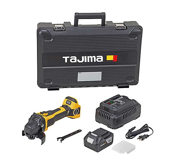 【NEW】☆TAJIMA/タジマ PT-G100ASET グラインダーセット 18V 100φ用 本体+急速充電器+充電池(6Ah)1個