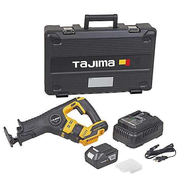 【NEW】☆TAJIMA/タジマ PT-R400ASET レシプロソーセット 本体+急速充電器+充電池(6Ah)1個+ケース付