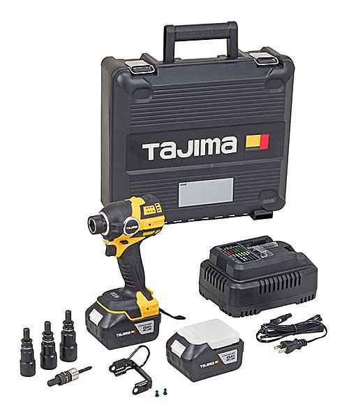【キャンペーン品】☆TAJIMA/タジマ PT-F300A6ASETCP 太軸インパクト 18V 6AhセットCP 本体+18V急速充電器+充電池(6Ah)2個+太軸ソケット3本付