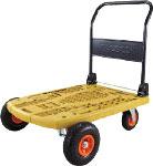 【祝開店!大放出セール開催中】   MPK-906OR-OG コード(4548337):工具ショップ ☆【】TRUSCO/トラスコ中山 軽量樹脂製運搬車・台車 カルティオビッグオフロード 900X600 オリーブ-DIY・工具