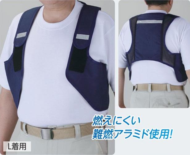 ☆ユニット HO-813 冷却ベストアイスV 保冷剤(3個付) Lサイズ・LLサイズ 難燃 冷感衣服 熱中症対策