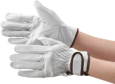 作業性に優れ 送料無料 新品 摩耗に強く 軽量で柔軟性に優れています ☆TRUSCO トラスコ中山 当て付タイプ 至高 マジック式革手袋 Mサイズ TYK718M 3599787