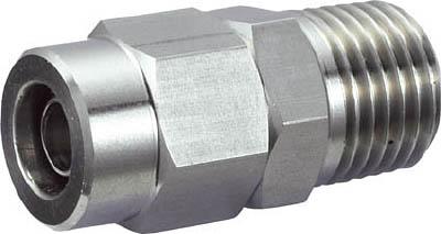フッ素樹脂チューブと接続します ☆TRUSCO トラスコ中山 SUSメイルコネクタ 毎日激安特売で 営業中です ついに入荷 適用チューブ径4X2 2560917 ねじR1 8 TS401M