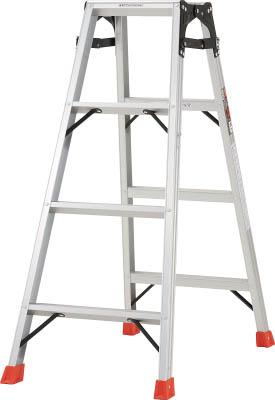 【代引き不可】☆TRUSCO/トラスコ中山 はしご兼用脚立 アルミ合金製・脚カバー付 高さ1.11m  THK120  (5123674)