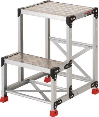 【代引き不可】☆TRUSCO/トラスコ中山 作業用踏台 アルミ製・縞板タイプ 天板寸法500X400XH700  TSFC257   コード(3365123)