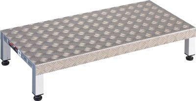 【代引き不可】☆TRUSCO/トラスコ中山 高床用アルミ製ステップ 900X450XH190~220  TFSH0945AL  (3361829)