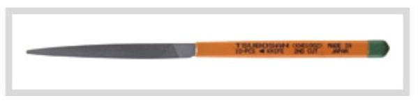 ☆ツボサン 12本組ヤスリ 112 油目 刀刃形状 KH01204