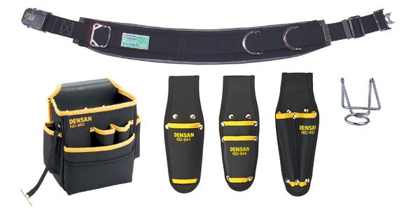 デンサン 腰道具セット(キャンバスタイプ) NDS-R98BK-SET