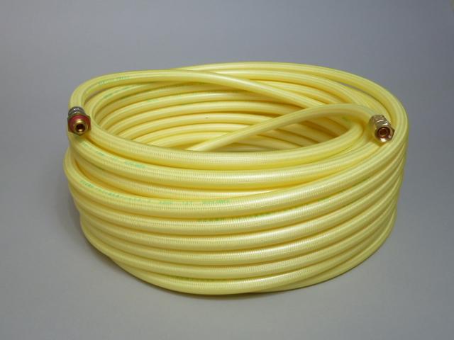エアコン洗浄に最適 即納 十川ゴム 高圧ホース 黄透明 低価格化 8.5mm×30m 軽量スプレーホース5.0Mpa 金具付