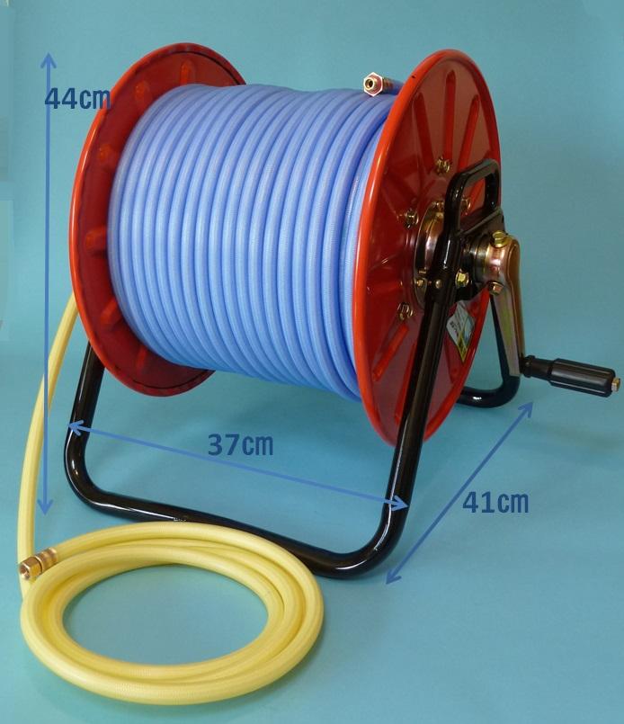 非常に高い品質 8.5mm×50m金具付巻取機セット.ストロングリールSL-50型:エアコン洗浄プロ 高圧ホースブルー軽量スプレーホース5.0Mpa 十川ゴム-DIY・工具