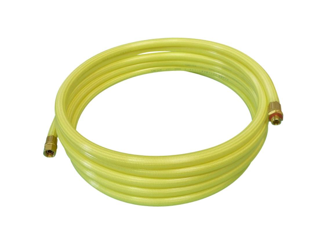 エアコン洗浄に最適 高圧ホース 黄透明 8.5mm×5m 金具付 受賞店 使い勝手の良い 十川ゴム軽量スプレーホース5.0Mpa