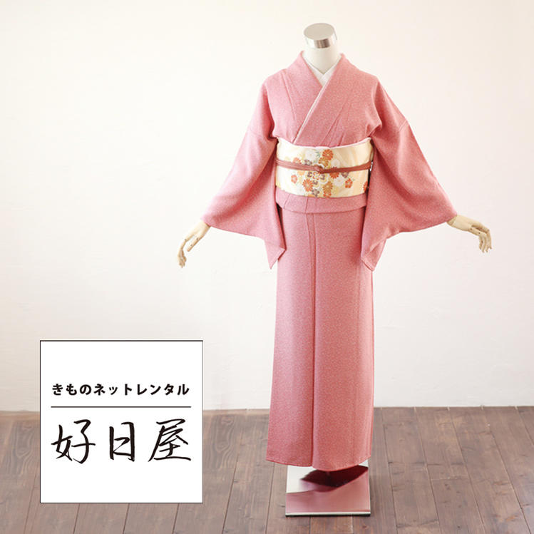 色無地 レンタル フルセット 正絹 身長150-165cm im-002