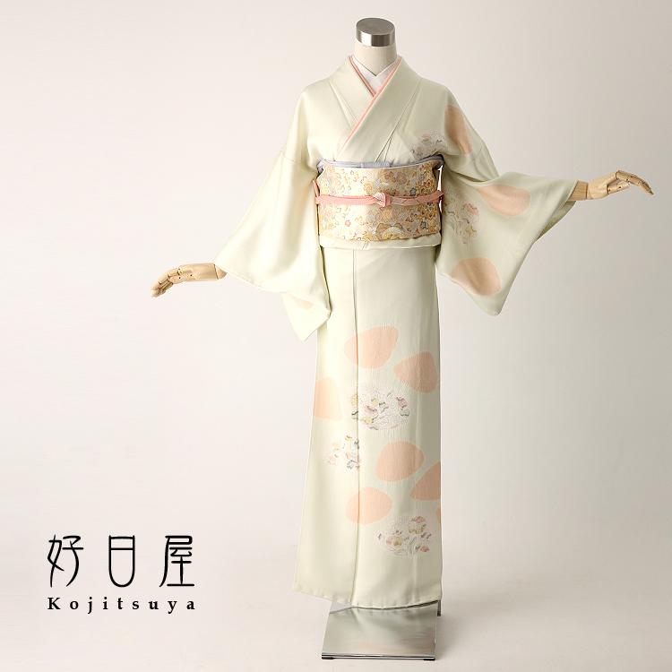 訪問着 レンタル フルセット 正絹 着物 結婚式 卒業式 入学式 七五三 身長145-160cm h-019