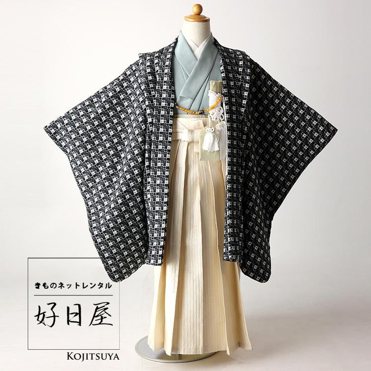七五三 袴 男の子 ブランド ひさかたろまん 着物 レンタル 5歳 子供 子供 羽織 5-002