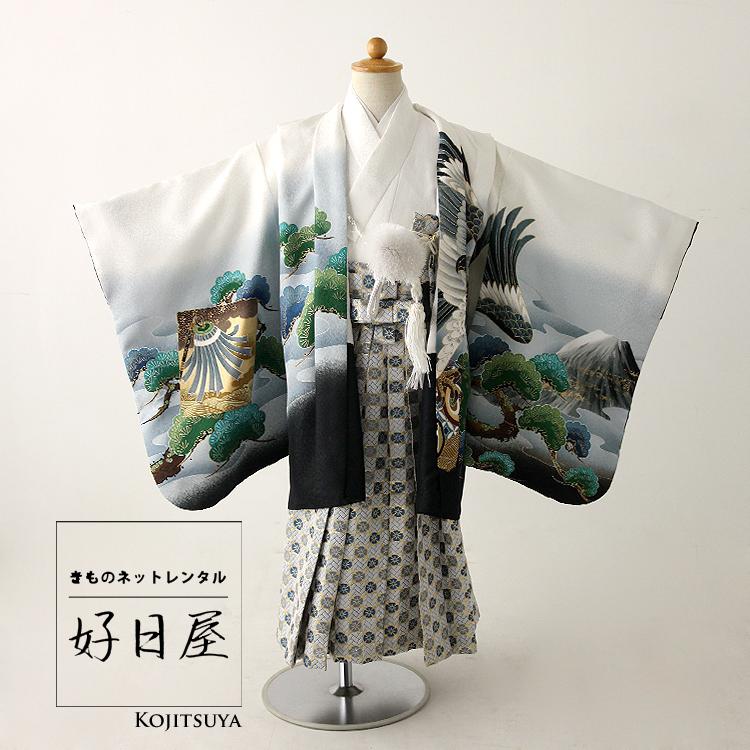 七五三 袴 男の子 着物 レンタル 3歳 袴レンタル フルセット 子供 羽織 子供 お宮参り 5-025-3