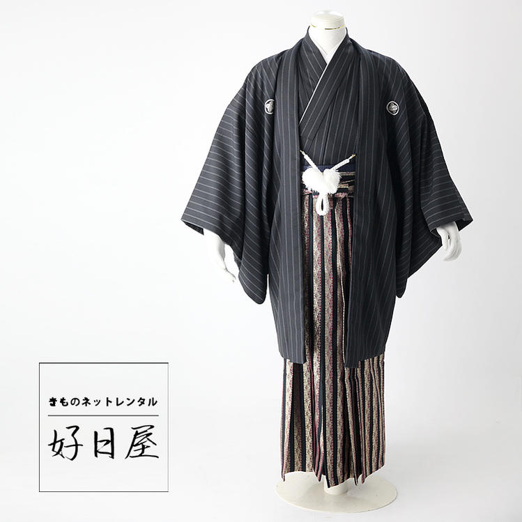卒業式 袴 レンタル 男 着物 結婚式 着物 成人式 男性 紋付袴 dh-008-s