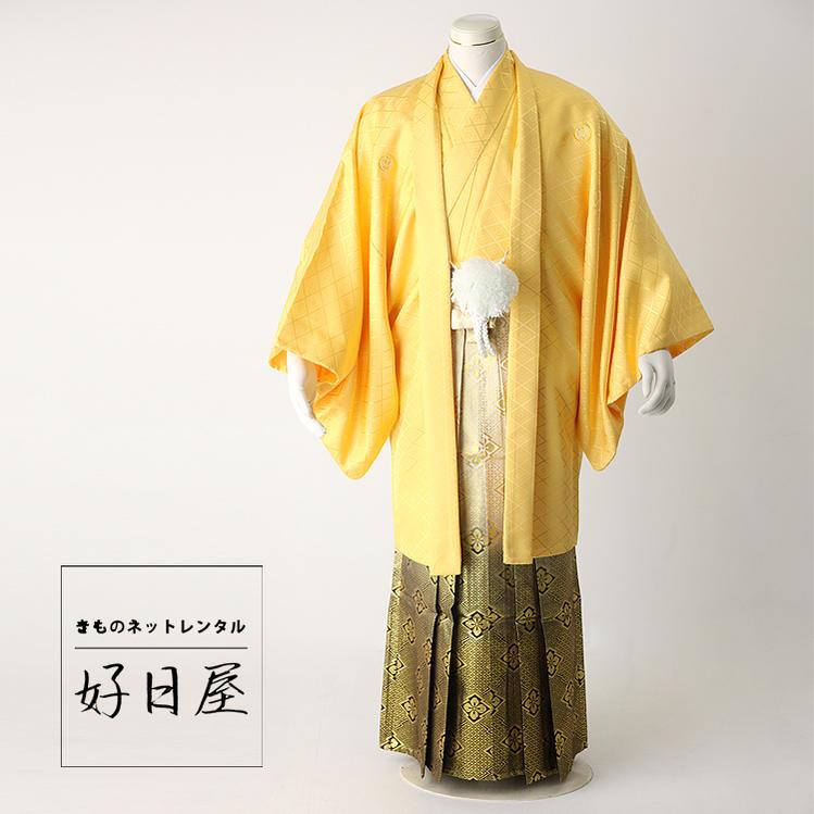 卒業式 袴 レンタル 男 着物 結婚式 袴レンタル フルセット 紋付羽織袴 着物 成人式 男性 紋付袴 dh-011