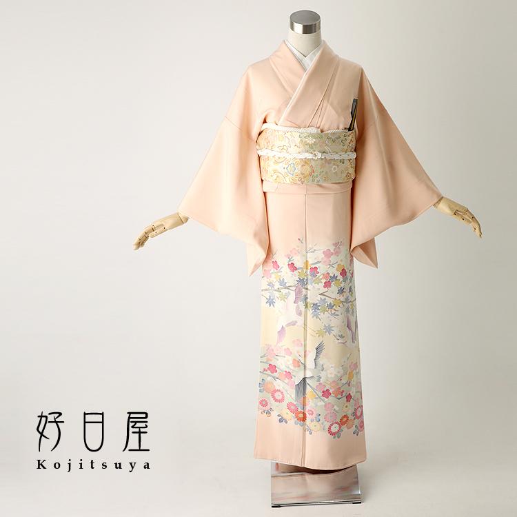 色留袖 レンタル フルセット 正絹 着物 結婚式 身長144-159cm 五つ紋 it-009