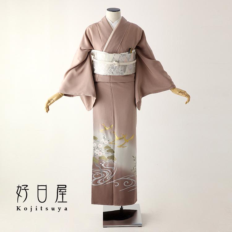 色留袖 レンタル フルセット 正絹 着物 結婚式 身長153-170cm 三つ紋 it-059