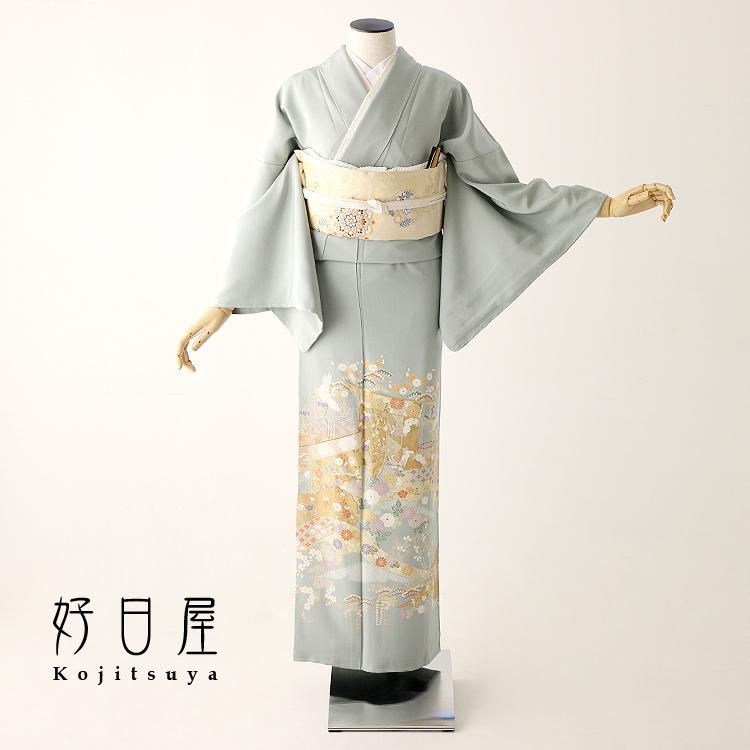 色留袖 レンタル フルセット 正絹 着物 結婚式 身長153-170cm 三つ紋 it-065