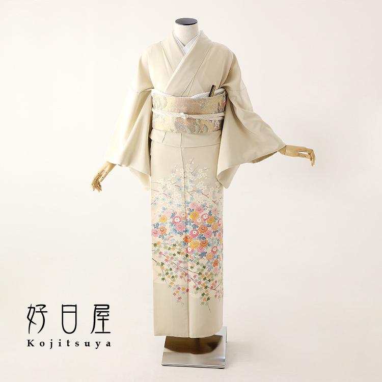 色留袖 レンタル フルセット 正絹 着物 結婚式 身長145-160cm 三つ紋 it-076