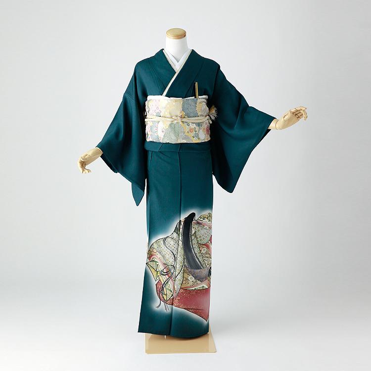 色留袖 レンタル フルセット 正絹 着物 【レンタル】 結婚式 身長148-168cm 一つ紋 it-104