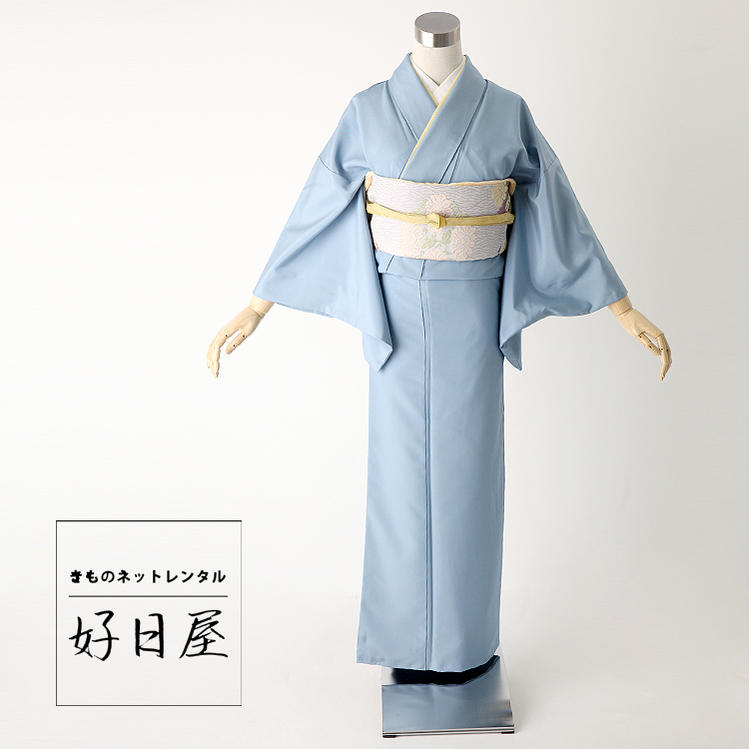 色無地 レンタル フルセット 正絹 身長145-160cm im-022