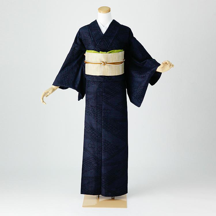 単衣 結城紬 レンタル 夏着物 身長145-160cm hit-009