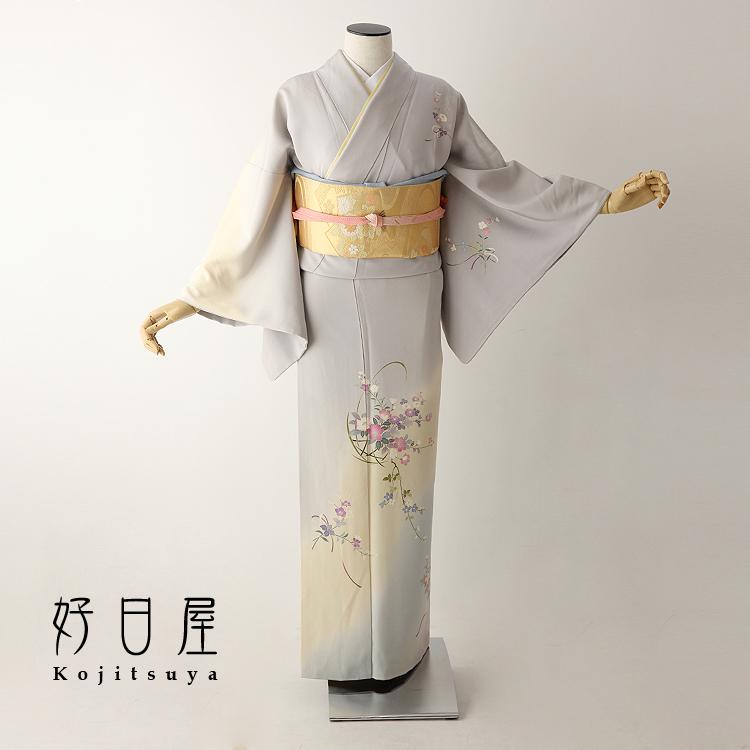 訪問着 レンタル フルセット 正絹 着物 結婚式 卒業式 入学式 七五三 身長152-167cm h-235