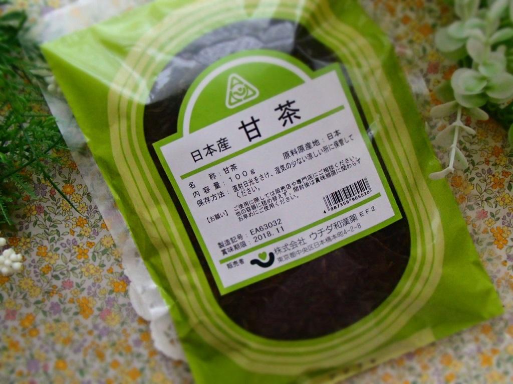 甘茶(アマチャ)(ウチダ)100g×6【国産】【送料等無料・安心品質!】