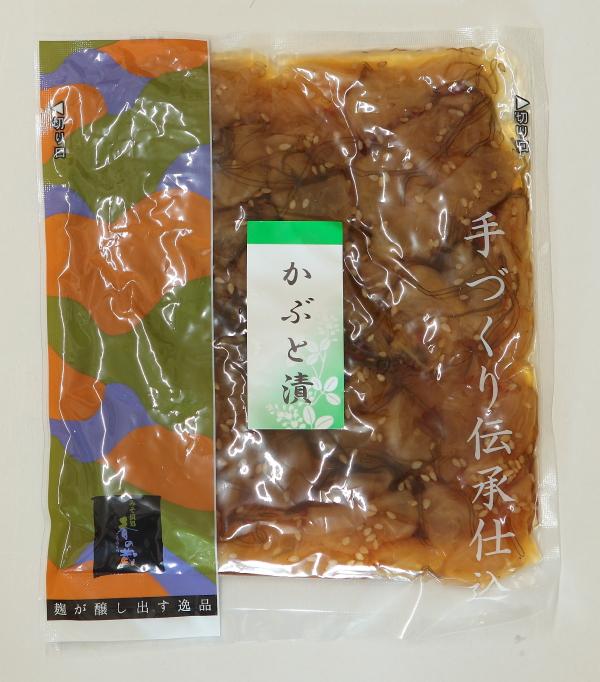 九州産の干し大根と北海道産の昆布を使用した 格安 価格でご提供いたします 風味豊かなつぼ漬です かぶと漬 絶品
