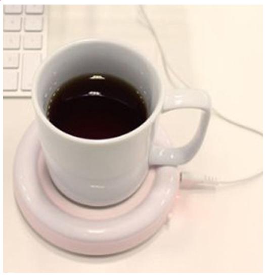 宅配便発送専門商品 スーパーSALE全品2倍 USBホットコースター 賜物 ディスカウント ホワイト セラヴィ カップウォーマー保温コースター ドリンク CLV-3502USB 保温