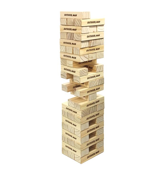 ジャイアント!! ウッドスタック ジェンガ風 積み木 木製つみきゲーム 知育玩具 ビッグサイズ!! バランスゲーム パーティゲーム OUTDOOR MAN ウッドスタック KK-00524【送料無料(北海道、沖縄、離島は適用外)】