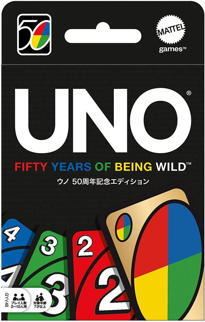 新品 爆買い新作 送料無料 メール便送料無料 MATTEL マテル UNO ウノ GYV48 ファミリー 50周年記念エディション ゴールドワイルドカード付き カードゲーム