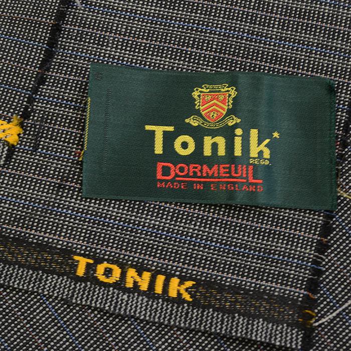 ヴィンテージ/Dormeuil/ドーメル/Tonik/トニック/スーツ用生地/黒系/2.9m/NO.75