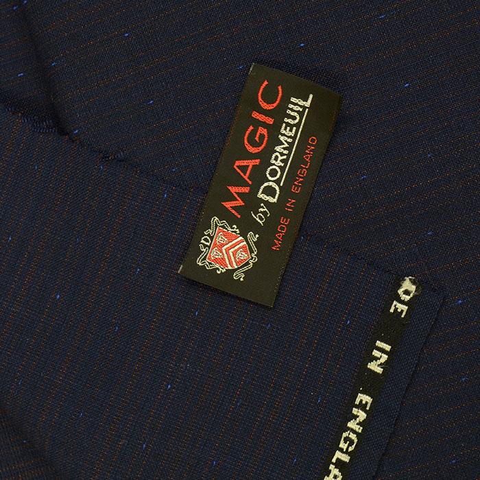 ヴィンテージ/ドーメル/マジック/スーツ用生地/紺/3m/NO.76