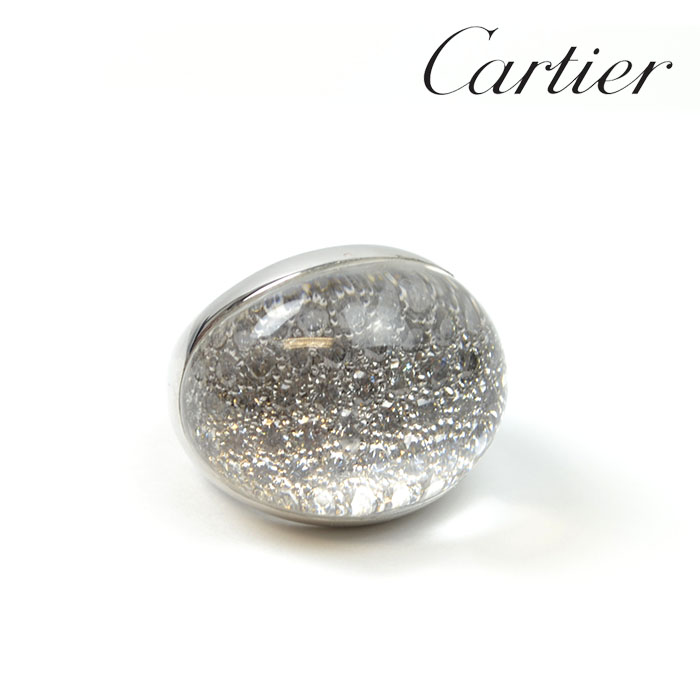Cartier カルティエ ミストリング LM 指輪 #53 約13号 K18WG 750WG ホワイトゴールド ダイヤモンド パヴェダイヤ 【中古】a-2001