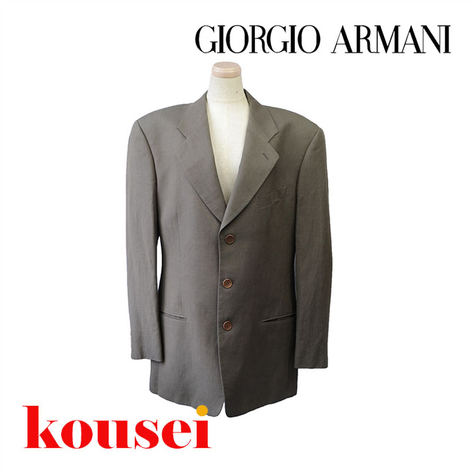 GIORGIO ARMANI/ジョルジオ・アルマーニ/メンズスーツ/グレー/【中古】/a-1504-