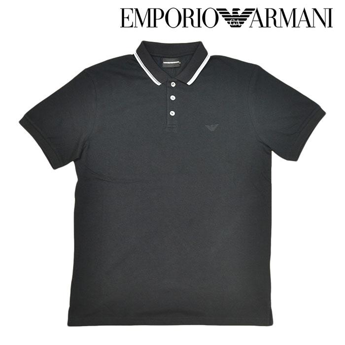 EMPORIO ARMANI エンポリオアルマーニ ポロシャツ 半袖シャツ ロゴ 襟ライン ブラック 黒 メンズ 男性 M L XL XXL サイズ 3H1F82 1J60Z 0999 ギフト ラッピング プレゼント包装無料 a-2006