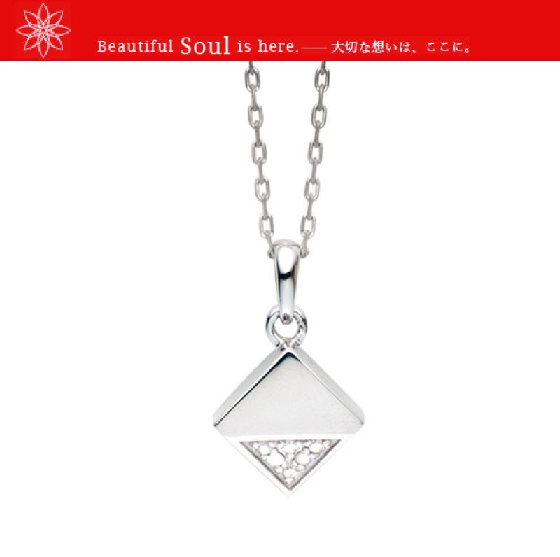 遺骨ペンダント Soul Jewelry ソウルジュエリー キューブカット シルバー925 ペット供養