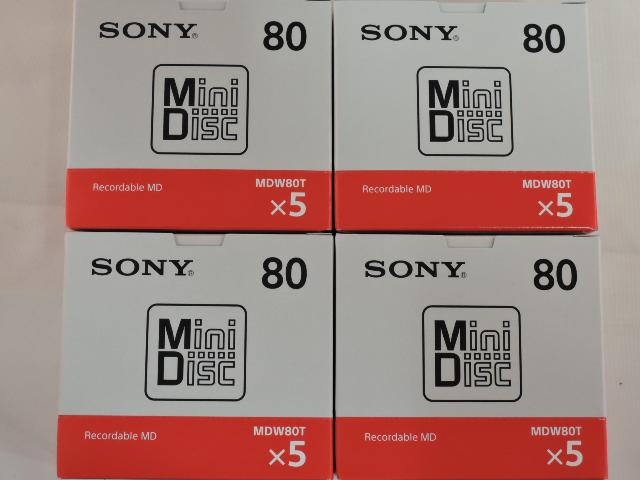 送料無料 ソニー ミニディスク 80分20P 20MDW80T