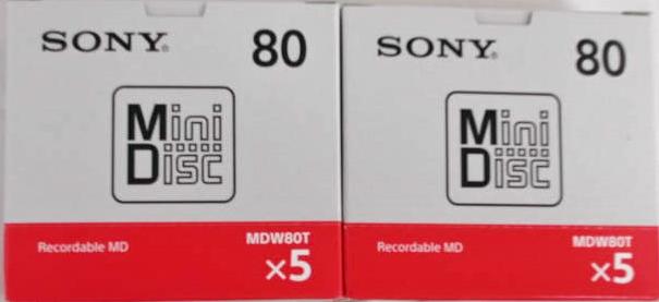 送料込 ソニー ミニディスク 80分10P 10MDW80T